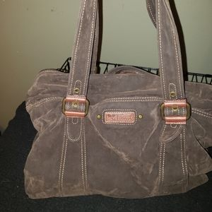 Fossil suede weekend tote